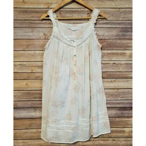 Eileen West Nightgown XS Cotton White